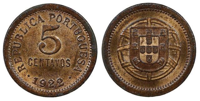 5 centavos de 1922