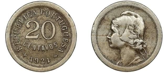 20 centavos de 1921