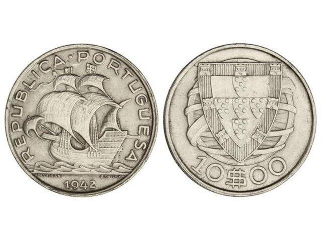 10 escudos de 1942