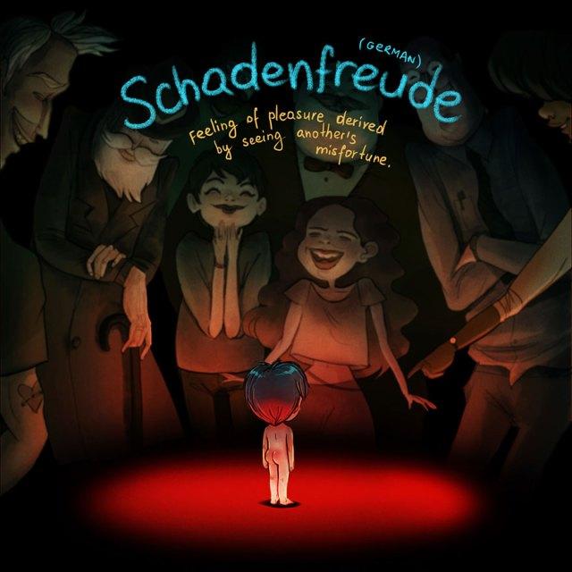 Schadenfreude, Alemão