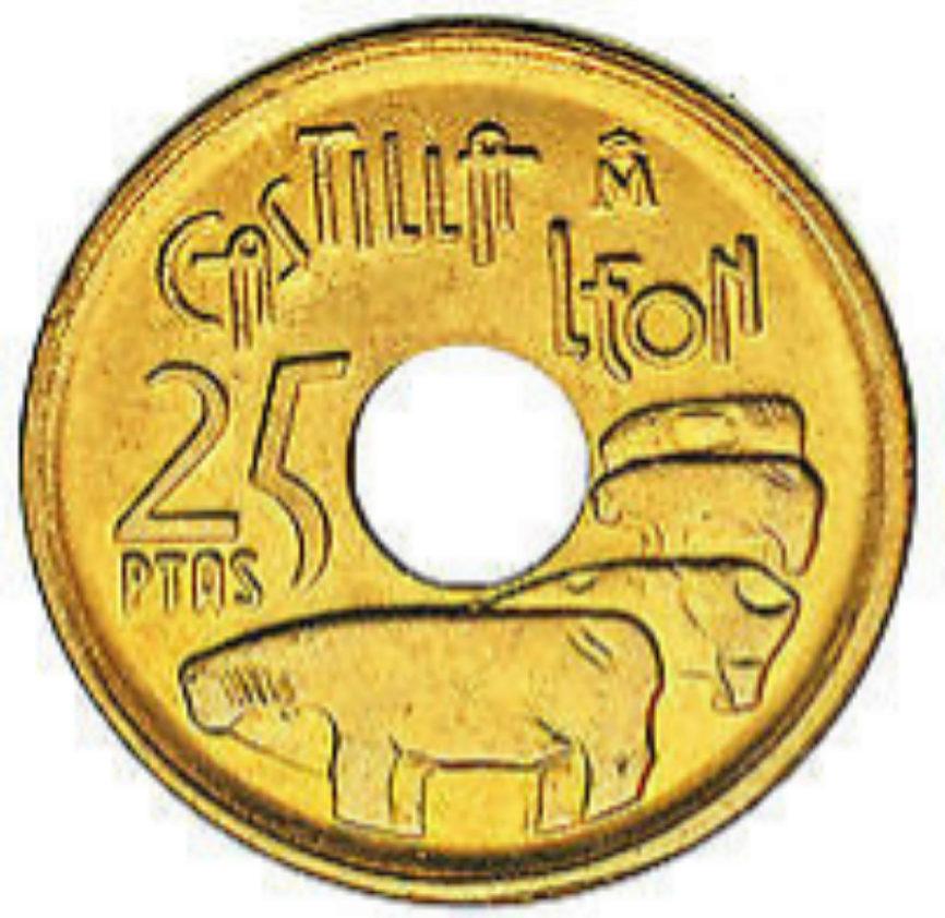 25 pesetas de 1966