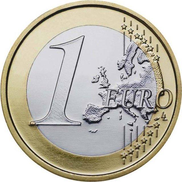 1 Euro com Mapa Novo