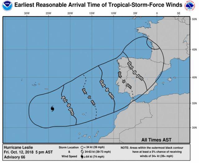 furacão Leslie