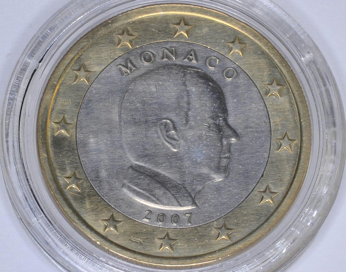 Mónaco 1 euro de 2007 con error