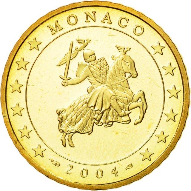 50 Cêntimos Mónaco 2004