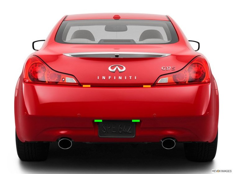 Infiniti G37 rear head locations