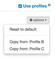 Profiles pulldown box on AntiLaser Priority Configuration page