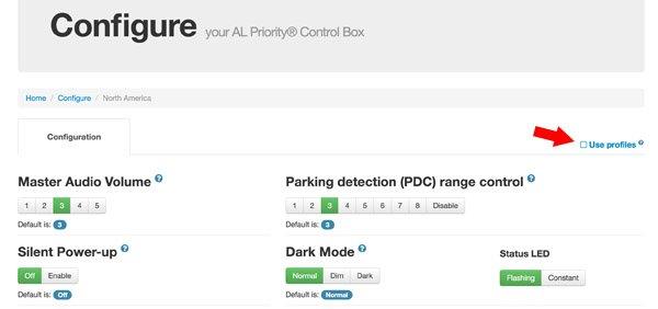 AntiLaser Priority Configuration: Use Profiles option