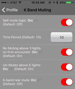 K Band Muting Settings