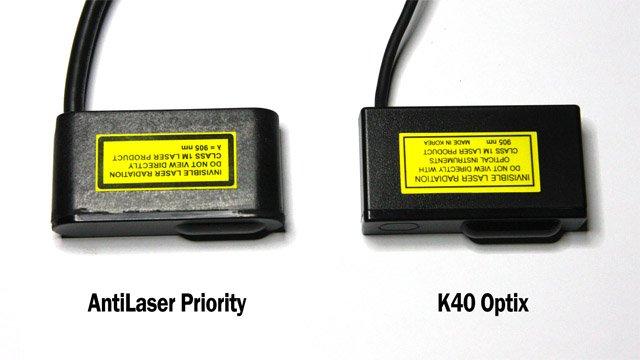 ALP vs K40 Defuser Optix head size comparison