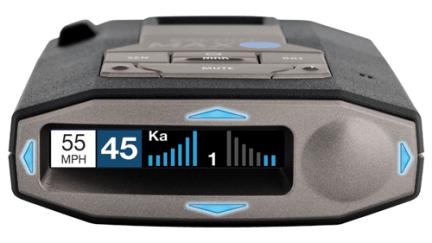 Escort Max 360c radar detector front display