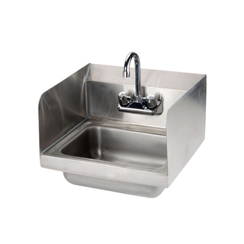 efi sih817 s 17 x 15 wall mounted hand sink with faucet splash guard