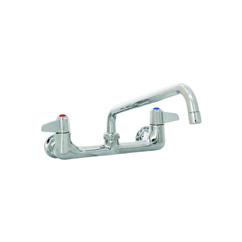 t s 5f 8wlx10 wall mount faucet with 8 centers and 10 swing spout