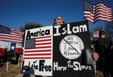 Islamist attacks like the one that left five servicemen dead in Chattanooga, Tenn., helped spark anti-Islam rallies like a recent gathering in Garland, Texas. (AP Images/Tony Gutierrez)