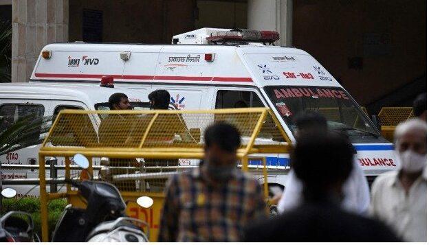 Three killed in Dehli courtroom shootout.