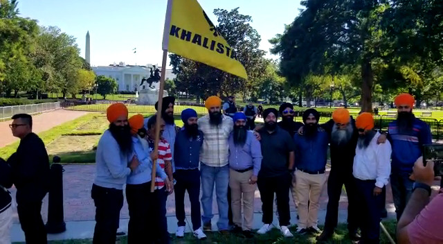 Protest held in front of White House during Modi's meeting with Biden.