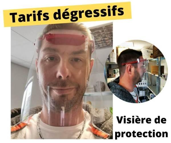 visière protection en impression 3D sur Nantes, Pays de la Loire