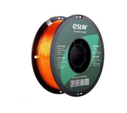 eSUN eTPU-95A Filament Orange Transparent – 1,75 mm – 1 kg