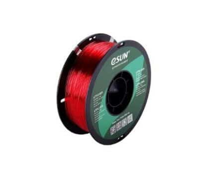 eSUN eTPU-95A Filament Rouge Transparent – 1,75 mm – 1 kg