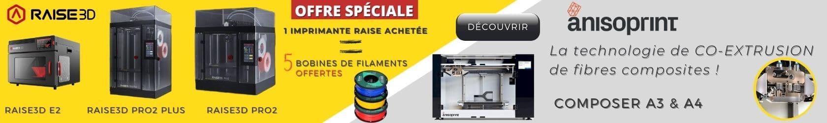 imprimantes raise3d et Anisoprint
