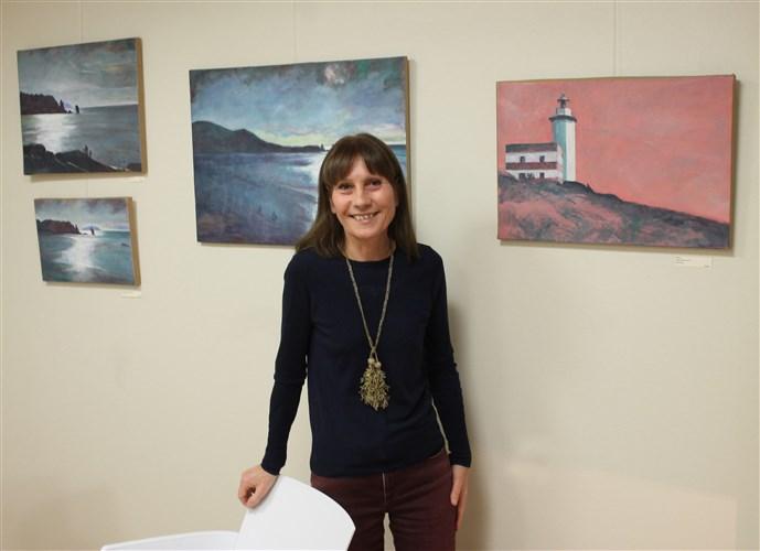L'artiste Isabelle Régnier à la Galerie l'Atelier le Vivier à Moret