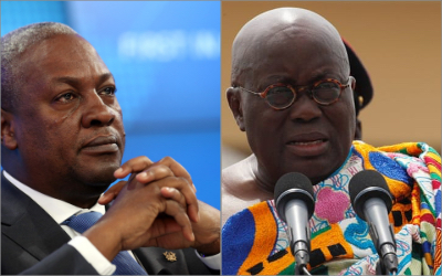 Forecast update: Chance of a run-off up, both Nana Addo and Mahama down