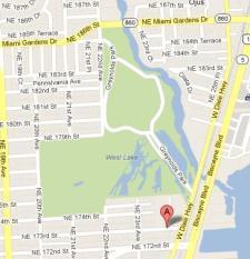 2375 NE 173 Street Map