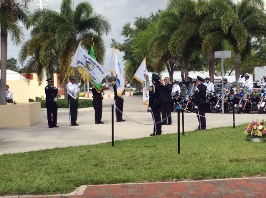 Honor Guard represented by the North Miami Beach Police, Miami Beach Police, Miami-Dade Corrections and the North Miami Senior High R.O.T.C