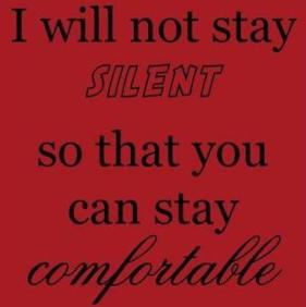 I will not stay silent