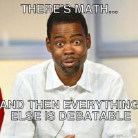 There's math