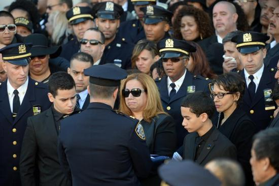Widow and sons of slain NYPD Officer Rafael Ramos