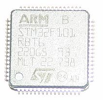 STM32F101RBT6 Cortex M3 chip, 64Kb Flash, 10Kb RAM