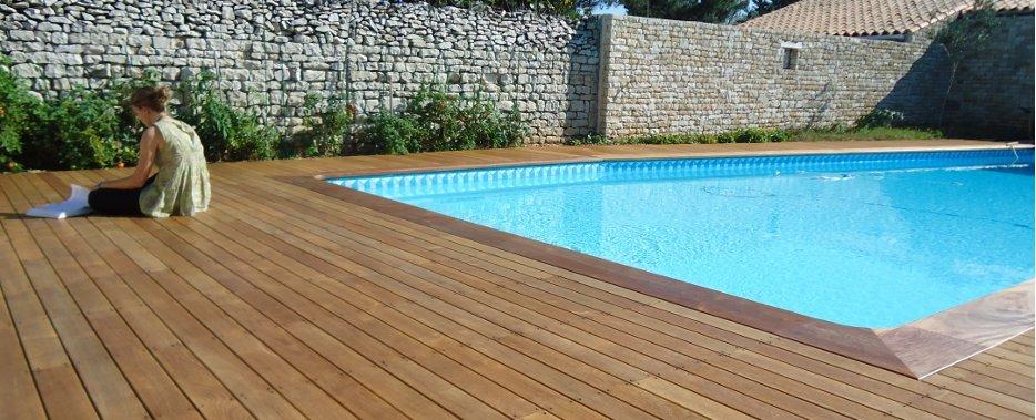 Terrasse en bois piscine  Nos Conseils