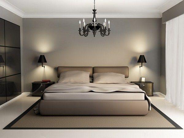 chambre couleur taupe et blanc
