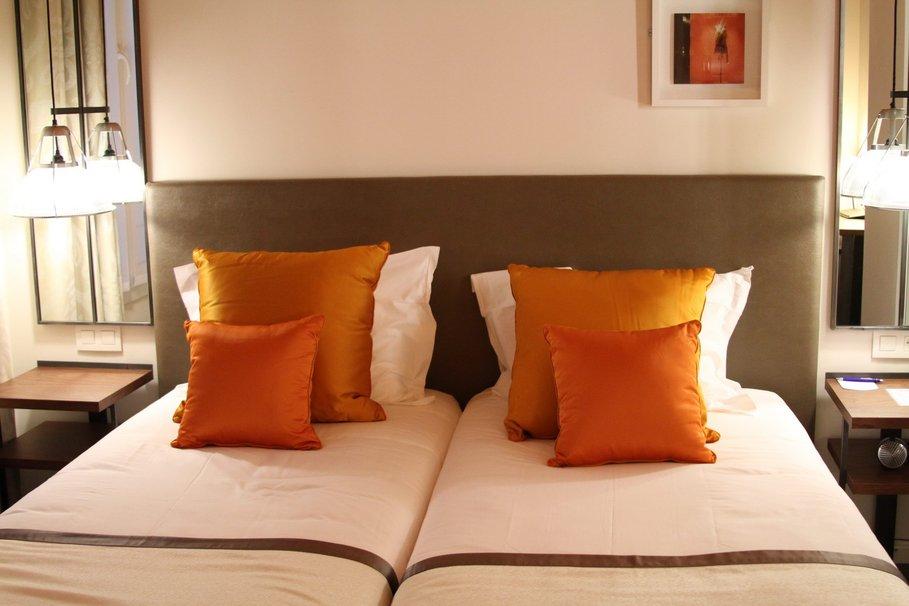 Dco chambre orange marron  Exemples damnagements