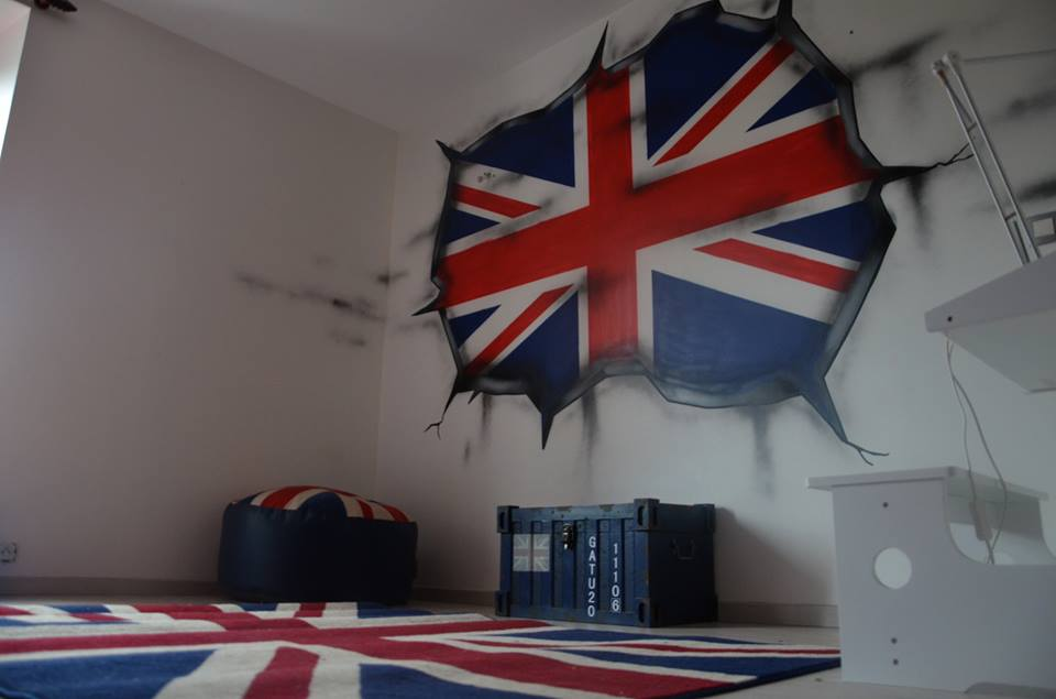 Dco chambre theme london  Exemples damnagements