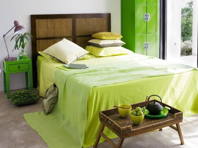 dco chambre jaune et vert