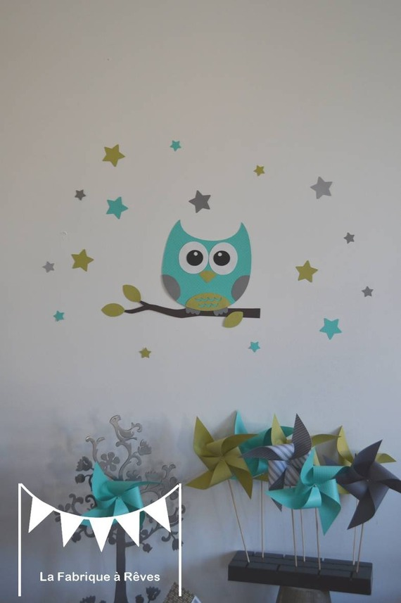Dco hibou chambre bebe  Exemples damnagements