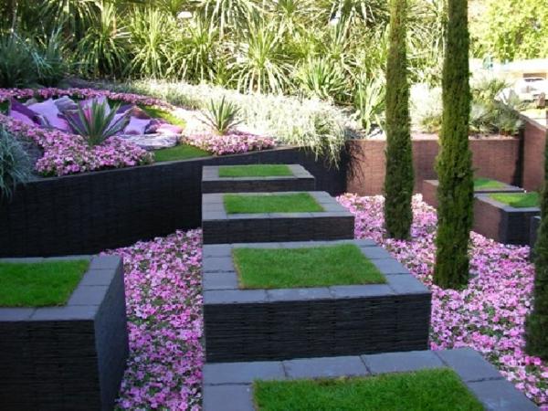 Dco jardin design  Exemples damnagements