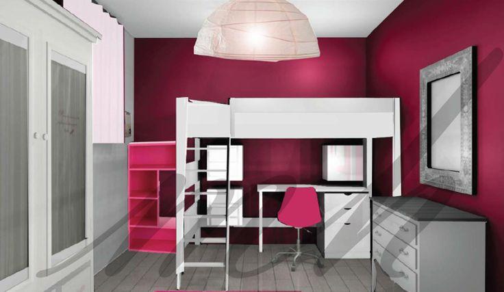 dcoration chambre couleur framboise
