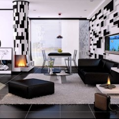 Living Room Inspiration Grey Sofa Ceiling Design Ideas For Small Déco Salon Noir Et Blanc - Exemples D'aménagements