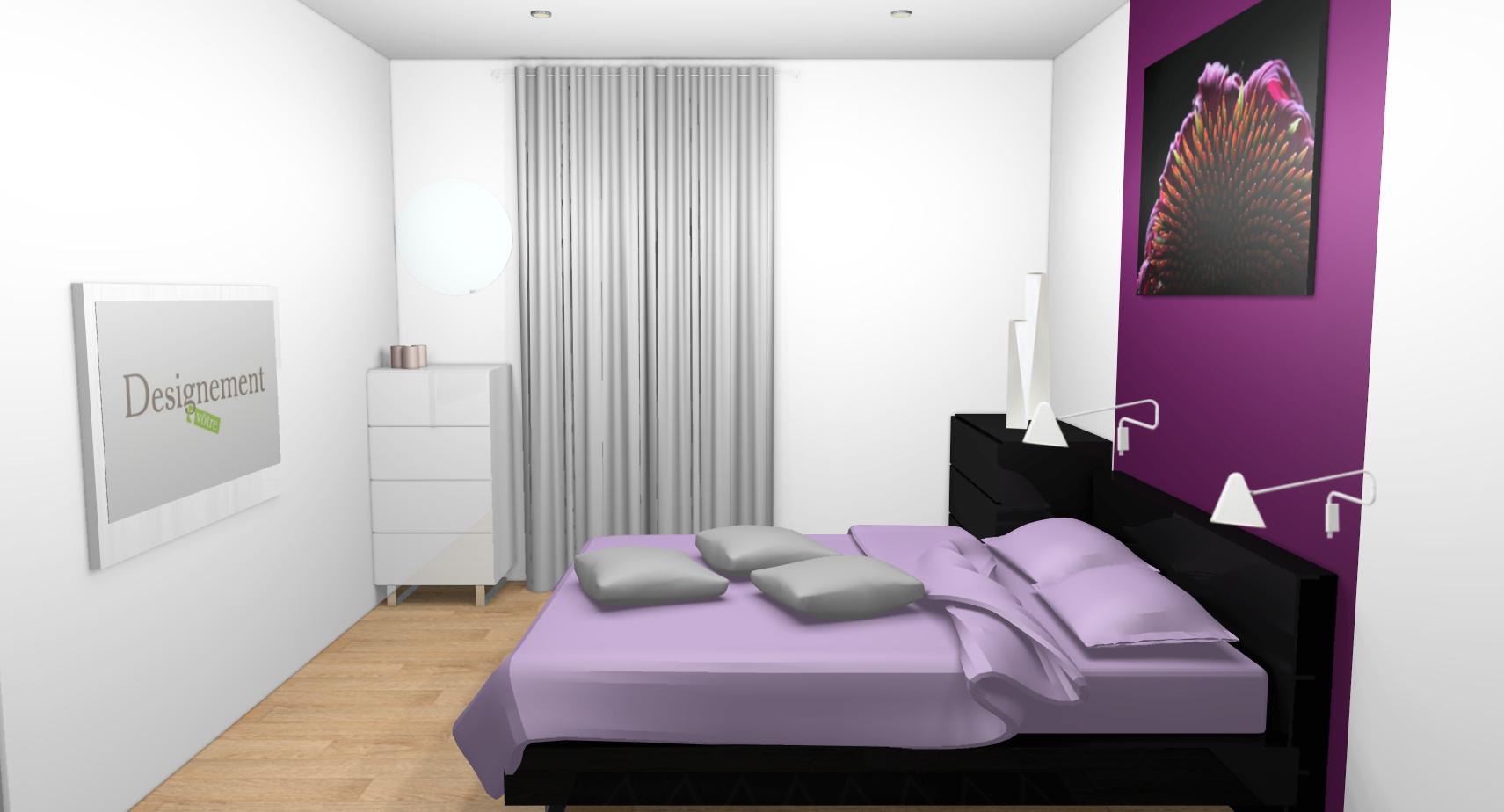 Chambre Couleur Prune - Décoration de maison idées de design d ...