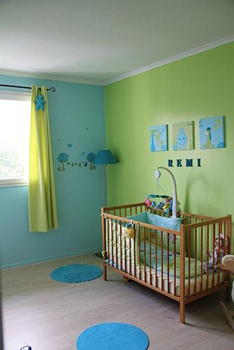Dcoration chambre vert et bleu  Exemples damnagements