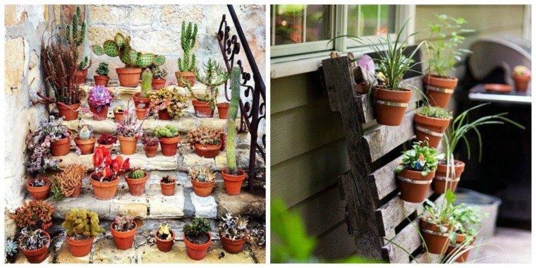 Dcoration jardin pots de fleurs  Exemples damnagements