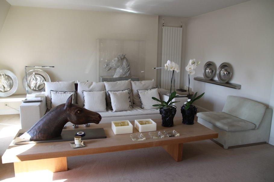 deco salon gris blanc bois