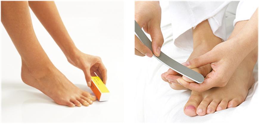 Polir ses ongles de pieds