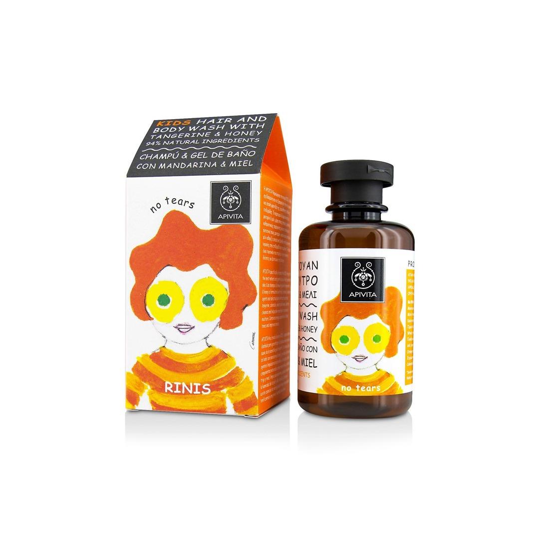 apivita gel cheveux corps pour enfants mandarine miel 250 ml