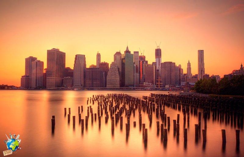 La vue sur Manhattan depuis Brooklyn