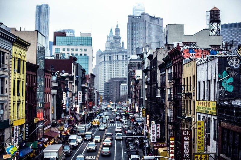 Les rues bondées dans le chinatown de New-York