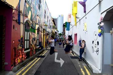 La rue piétonne Haji Lane, vraiment très mignonne